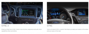 Two versions of SYNC from Ford